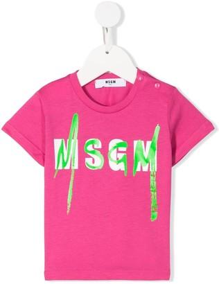 Msgm Kids logo stamp T-shirt