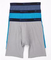 Champion Cotton Performance Long Leg Boxer Brief 3-Pack