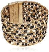 Kenneth Cole New York Two-Tone Woven Bead Multi-Row Bracelet
