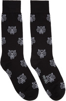 Kenzo Black Allover Tiger Socks