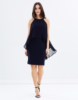 Wallis Ring Collar Overlayer Dress