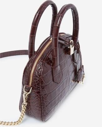 The Kooples Medium brown crocodile-print Irina bag