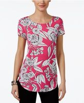 Alfani Petite Printed Shirttail Top, Only At Macy's
