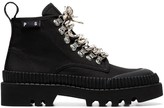 Proenza Schouler black lug sole canvas boots