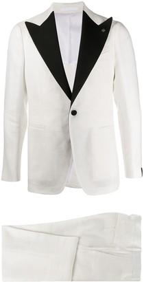 Tagliatore Peak Lapel Tuxedo Suit Jacket