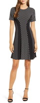 MICHAEL Michael Kors Michael Kors Mod Dot Combo Fit & Flare Dress