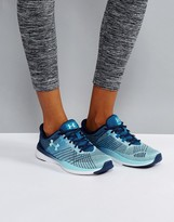 Under Armour Training Push Threadborne Trainers In Navy