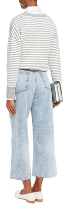 Rag & Bone Cropped Faded High-rise Wide-leg Jeans
