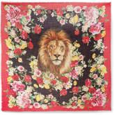 Dolce & Gabbana Frayed Floral-print Cashmere And Silk-blend Scarf