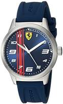 Ferrari Boy's 'Pitlane' Quartz Stainless Steel and Rubber Casual Watch, Color:Blue (Model: 810016)