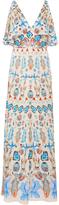 Temperley London Quartz Printed Cold Shoulder Dress