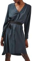Topshop Women's Belted Pocket Shirt Dress