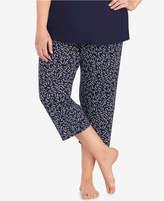 DKNY Plus Size Printed Capri Pants