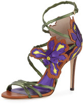 Jimmy Choo Lolita Floral Strappy 100mm Sandal, Canyon/Mix
