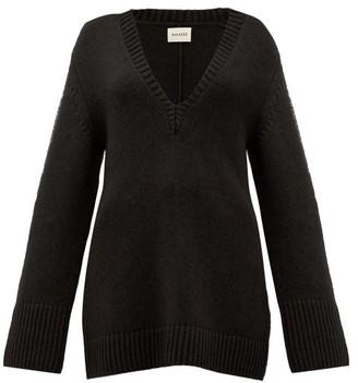 KHAITE Dana Braided-applique Cashmere Sweater - Black
