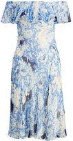 Polo Ralph Lauren Silk Off-The-Shoulder Dress
