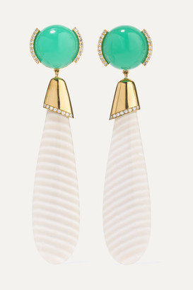 GUITA M 18-karat Gold Multi-stone Earrings - one size