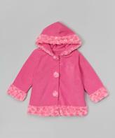Paperdoll Hot Pink Fleece Hooded Coat - Toddler & Girls