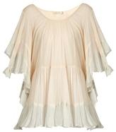 Mes Demoiselles Radiance ruffle-trimmed cotton blouse