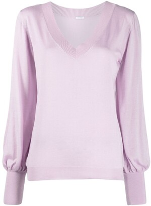 Malo Bell-Sleeves Cashmere Sweater