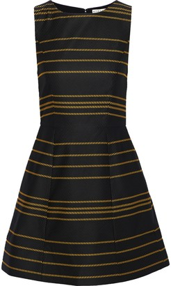 Alice + Olivia Lindsey Flared Striped Ottoman Mini Dress