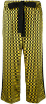 Fendi geometric print cropped trousers - women - Silk/Cotton/Viscose - 40