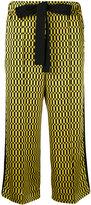 Fendi geometric print cropped trousers - women - Silk/Viscose/Cotton - 40