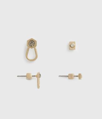 AllSaints Djuna Gold-Tone Earring Set
