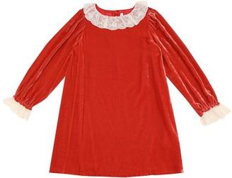 Bonpoint Puzzle velvet dress