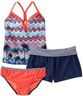 ZeroXposur Girls Plus Size Tankini Swimsuit & Shorts Set