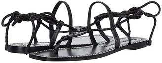 Tory Burch Miller Braided Ankle Wrap Sandal (Perfect Black/Perfect Black) Women's Shoes