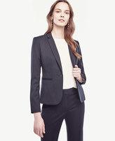 Ann Taylor Petite Pinstripe One Button Jacket