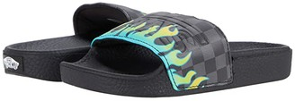 Vans Kids Slide-On (Little Kid) ((Glow Flame) Black/Black) Boy's Shoes