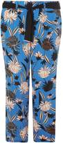 **DP Curve Blue Oriental Palazzo Trousers