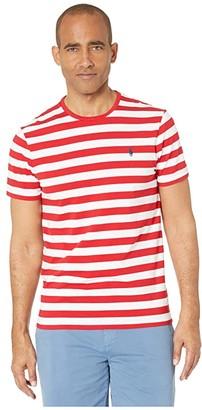 Polo Ralph Lauren Custom Slim Fit Crew Neck Tee (Red Multi) Men's Clothing
