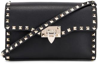 Valentino Rockstud Small Shoulder Bag in Nero | FWRD