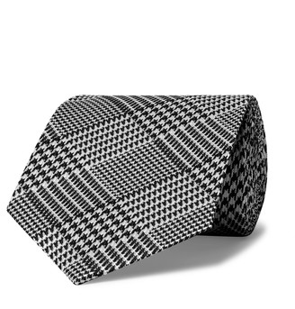 Tom Ford 8cm Prince Of Wales Checked Silk-Jacquard Tie