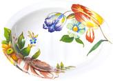 Mackenzie Childs MacKenzie-Childs - Flower Market Enamel Soap Dish - White