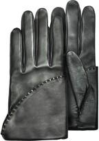 Pineider Women's Black Short Nappa Gloves w/ Silk Lining