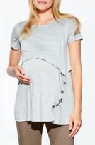 Maternal America Women's Ruffles Cascade Maternity/nursing Top