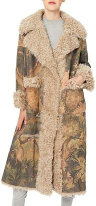 Oscar de la Renta Tapestry Print Shearling Stroller