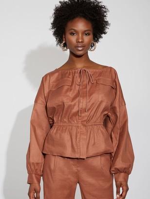 New York & Co. Linen Cargo Jacket - Gabrielle Union Collection