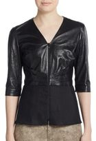 Lafayette 148 New York Miley Mixed-Media Top