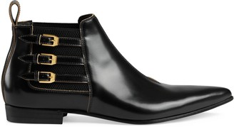 Gucci Men's leather ankle boot