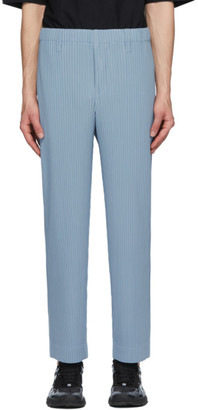 Homme Plissé Issey Miyake Blue Tailored Pleats 2 Trousers
