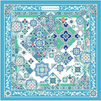 Jessie Zhao New York Silk Scarf With Moroccan Square Mystique