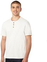 St George By Duffer Dark Cream Button Neck T-shirt