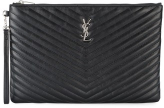 Saint Laurent Monogram matelasse pouch