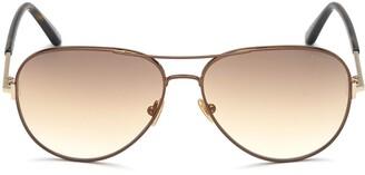 Tom Ford Clark 59mm Gradient Aviator Sunglasses