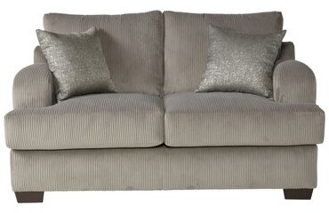 """Thumbnail for your product : Alcott Hill Handler 64"""" Recessed Arm Loveseat with Reversible Cushions Fabric: Rio Dove"""